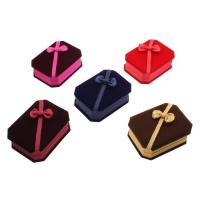 Baumwollsamt hängender Kasten, mit Karton, Rechteck, plattiert, keine, 80x100x30mm, verkauft von PC