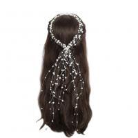 Braut Haar Blumen, Kunststoff Perlen, mit Stahldraht, für Frau, weiß, 470mm, verkauft von PC