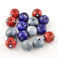 Gemischte Acrylperlen, Acryl, rund, plattiert, gemischte Farben, 18x15x18mm, Bohrung:ca. 3mm, 50PC/Tasche, verkauft von Tasche