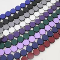 ABS-Kunststoff-Perlen, ABS Kunststoff, rund, keine, 16x16x6mm, Bohrung:ca. 2mm, ca. 420PCs/Tasche, verkauft von Tasche
