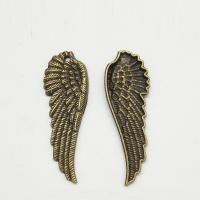 Flügel Zinklegierung Anhänger , Flügelform, antike Bronzefarbe plattiert, frei von Nickel, Blei & Kadmium, 20x17x3mm, Bohrung:ca. 1mm, 50PCs/Tasche, verkauft von Tasche