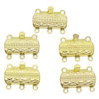 Messing Schnappschließe, goldfarben plattiert, frei von Nickel, Blei & Kadmium, 20x15x3mm, Bohrung:ca. 1mm, ca. 10PCs/Tasche, verkauft von Tasche