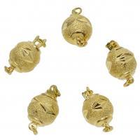 Messing Schnappschließe, goldfarben plattiert, frei von Nickel, Blei & Kadmium, 16x10mm, Bohrung:ca. 2mm, ca. 50PCs/Tasche, verkauft von Tasche