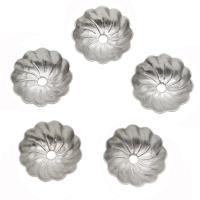 Edelstahl Perlkappen, verschiedene Größen vorhanden, originale Farbe, verkauft von Tasche