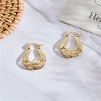 Messing Leverback Ohrring, goldfarben plattiert, für Frau, 26x20mm, verkauft von Paar