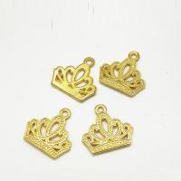 Zinklegierung Krone Anhänger, goldfarben plattiert, hohl, frei von Nickel, Blei & Kadmium, 17x17x1mm, Bohrung:ca. 2mm, 100PCs/Tasche, verkauft von Tasche