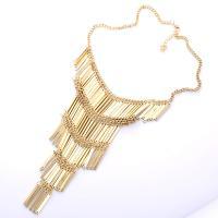 Edelstahl Franse Halskette, goldfarben plattiert, für Frau, verkauft per 17.7 ZollInch Strang