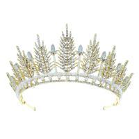 Krone, Zinklegierung, mit Kristall & Kunststoff Perlen, plattiert, für Braut & mit Strass, keine, frei von Nickel, Blei & Kadmium, 320,76mm, verkauft von PC