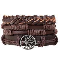 Zinklegierung Armband, mit Baumwollsamt Seidenband & Edelstein & Nylonschnur, plattiert, unisex & verschiedene Stile für Wahl, Länge:ca. 7.5 ZollInch, verkauft von setzen