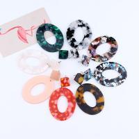 Acryl Tropfen Ohrring, für Frau, keine, 40x68mm, verkauft von Paar