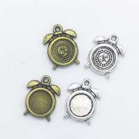 Zinklegierung Uhr Anhänger, Wecker, plattiert, keine, frei von Nickel, Blei & Kadmium, 16x12x2mm, Bohrung:ca. 1mm, 100PCs/Tasche, verkauft von Tasche