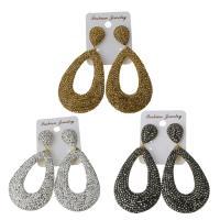 Ton Tropfen Ohrring, mit Gummi Earnut, für Frau, keine, frei von Nickel, Blei & Kadmium, 38x58mm,75mm, verkauft von Paar