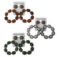 Ton Tropfen Ohrring, mit Gummi Earnut & Edelstein, für Frau, keine, frei von Nickel, Blei & Kadmium, 48.5x50mm,64mm, verkauft von Paar