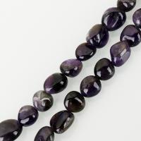 Natürliche Amethyst Perlen, violett, frei von Nickel, Blei & Kadmium, 10x12mm, Bohrung:ca. 1.5mm, ca. 30PCs/Strang, verkauft per ca. 15.5 ZollInch Strang