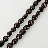 Natürlicher Granat Perlen, braun, frei von Nickel, Blei & Kadmium, 7x10mm, Bohrung:ca. 1.5mm, ca. 39PCs/Strang, verkauft per ca. 15.5 ZollInch Strang