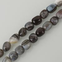 Natürliche Botswana Achat Perlen, gemischte Farben, frei von Nickel, Blei & Kadmium, 12x14mm, Bohrung:ca. 1.5mm, ca. 28PCs/Strang, verkauft per ca. 15.5 ZollInch Strang