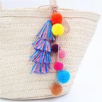 Plüsch Karabiner mit Schlüsselringen, mit Baumwollfaden, für Frau, farbenfroh, verkauft per ca. 37 ZollInch Strang