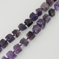 Natürliche Amethyst Perlen, violett, frei von Nickel, Blei & Kadmium, 10x10mm, Bohrung:ca. 2mm, ca. 34PCs/Strang, verkauft per ca. 18.5 ZollInch Strang