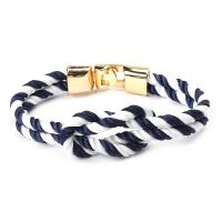 Nylonschnur Armbänder, mit Zinklegierung, plattiert, für Frau, keine, frei von Nickel, Blei & Kadmium, 210mm, verkauft von PC