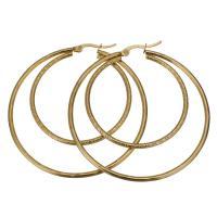 Edelstahl-Hebel zurück-Ohrring, Edelstahl, goldfarben plattiert, für Frau, 53x57mm, verkauft von Paar