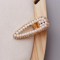 Klick Klack Spange, Zinklegierung, mit Kunststoff Perlen, goldfarben plattiert, verschiedene Stile für Wahl & für Frau & mit Strass, keine, frei von Nickel, Blei & Kadmium, 18x55mm,20x70mm,6x70mm, verkauft von PC