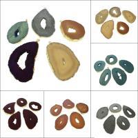 Natürliche Achat Druzy Anhänger, Eisquarz Achat, goldfarben plattiert, keine, 62*48*4mm,90*52*4mm, Bohrung:ca. 1.5mm, verkauft von PC