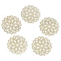 Messing Perlenkappe, goldfarben plattiert, hohl, frei von Nickel, Blei & Kadmium, 23x1mm, Bohrung:ca. 2mm, 50PCs/Tasche, verkauft von Tasche