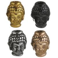 Edelstahl-Beads, Edelstahl, Buddha, plattiert, keine, 10x13x9mm, Bohrung:ca. 3mm, 10PCs/Menge, verkauft von Menge