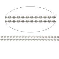 Halskette, Edelstahl, unisex & verschiedene Größen vorhanden & Kugelkette, originale Farbe, frei von Nickel, Blei & Kadmium, 100m/Menge, verkauft von Menge