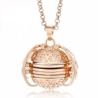 Zinklegierung Medaillon-Halskette, plattiert, für Frau, keine, frei von Nickel, Blei & Kadmium, 30mm, verkauft per ca. 23.6 ZollInch Strang