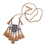 Zinklegierung Pullover Halskette, plattiert, für Frau, keine, frei von Nickel, Blei & Kadmium, 100x60mm, verkauft von Strang