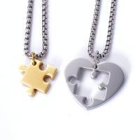 Titanstahl Ehepaar Halskette, für paar, keine, 24*29mmuff0c17*17mm, verkauft von Strang