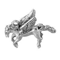 Zinklegierung Tier Anhänger, Pferd, antik silberfarben plattiert, frei von Nickel, Blei & Kadmium, 28x23.50x7.50mm, Bohrung:ca. 2.4mm, 50PCs/Menge, verkauft von Menge