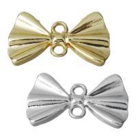 Schmetterling Zinklegierung Schmuckverbinder, Schleife, plattiert, 1/1-Schleife, keine, frei von Nickel, Blei & Kadmium, 21x12.50x2mm, Bohrung:ca. 2mm, 300PCs/Menge, verkauft von Menge
