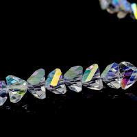 Mode Glasperlen, Glas, Dreieck, verschiedene Größen vorhanden, Bohrung:ca. 1mm, 100PCs/PC, verkauft von PC