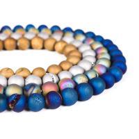Laugh Rift Achat Perle, rund, poliert, verschiedene Größen vorhanden, keine, frei von Nickel, Blei & Kadmium, Bohrung:ca. 1mm, verkauft von Strang