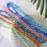 Mode Glasperlen, Glas, Schmetterling, plattiert, verschiedene Größen vorhanden, keine, frei von Nickel, Blei & Kadmium, Bohrung:ca. 1mm, 100PCs/Strang, verkauft von Strang