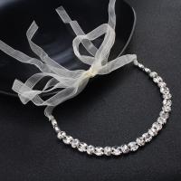 Stirnband, Zinklegierung, mit Etamine, plattiert, für Frau & mit Strass, keine, frei von Nickel, Blei & Kadmium, 255mm, verkauft von PC