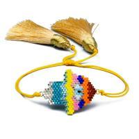 Hamsa Armbänder, Seedbead, mit Nylon Polypropylen, einstellbar & für Frau, Länge:ca. 6.3-9.4 ZollInch, 2SträngeStrang/Menge, verkauft von Menge
