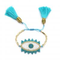 Seedbead Armband, mit Baumwolle Schnur, einstellbar & verschiedene Stile für Wahl & für Frau, Länge:ca. 6.3-8 ZollInch, 2SträngeStrang/Menge, verkauft von Menge