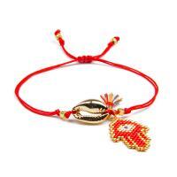 Seedbead Armband, mit Baumwolle Schnur & Zinklegierung, einstellbar & für Frau, keine, Länge:ca. 6.3-8 ZollInch, 2SträngeStrang/Menge, verkauft von Menge