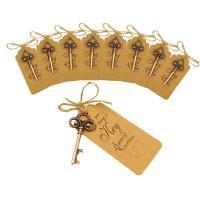 Zinklegierung Flaschenöffner, Schlüssel, plattiert, Hochzeitsgeschenk, keine, frei von Nickel, Blei & Kadmium, 68mm, 45x90mm, 20SetsSatz/Menge, verkauft von Menge