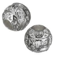 Messing Schmuckperlen, platiniert, frei von Nickel, Blei & Kadmium, 9x8.50x9mm, Bohrung:ca. 3.5mm, 10PCs/Menge, verkauft von Menge