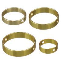 Messing Perlen Einstellung, vergoldet, verschiedene Größen vorhanden, frei von Nickel, Blei & Kadmium, 50PCs/Menge, verkauft von Menge