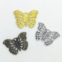 Zinklegierung Tier Anhänger, Schmetterling, plattiert, hohl, keine, frei von Nickel, Blei & Kadmium, 26x18x2mm, Bohrung:ca. 1mm, 100PCs/Tasche, verkauft von Tasche
