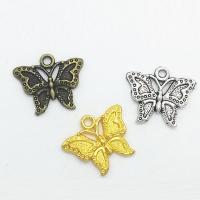 Zinklegierung Tier Anhänger, Schmetterling, plattiert, keine, frei von Nickel, Blei & Kadmium, 23x19x2.50mm, Bohrung:ca. 1mm, 100PCs/Tasche, verkauft von Tasche