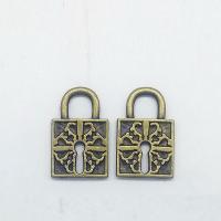 Zinklegierung Türschloss Anhänger, antike Bronzefarbe plattiert, frei von Nickel, Blei & Kadmium, 26x17x2.20mm, Bohrung:ca. 5mm, 100PCs/Tasche, verkauft von Tasche