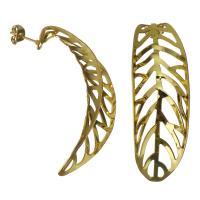 Edelstahl Ohrringe, goldfarben plattiert, für Frau & hohl, 17x44mm, 5PaarePärchen/Menge, verkauft von Menge