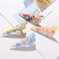 Schnabelspange, Acryl, Dreieck, plattiert, für Frau, keine, 100mm, verkauft von PC