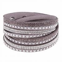 Baumwollsamt Armband, für Frau & mit Strass, keine, 395x15mm, verkauft von Strang